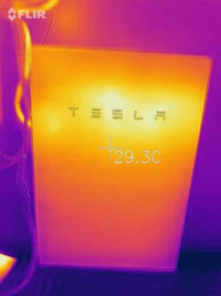 Tesla Battery with Heat Escape